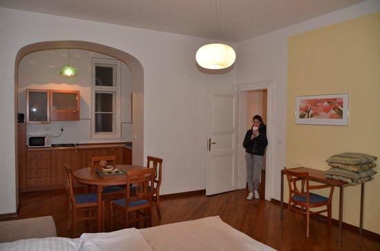 Residence Masna - Prague City Apartments : Soggiorno/cottura