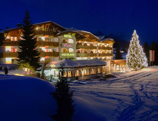 Hotel Residenz Hochland: Ansicht Winter Abend