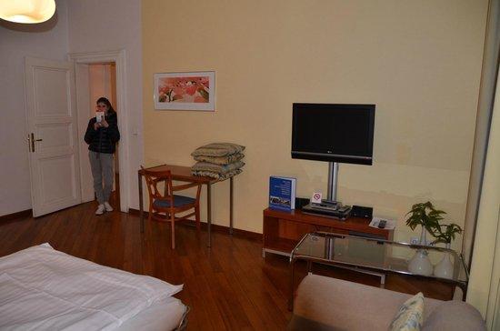 Residence Masna - Prague City Apartments : Soggiorno/tv