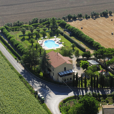Veduta aerea Casa Vacanze La Cuccumella