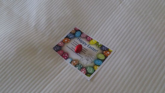 Novotel Wollongong Northbeach: Easter chocolate (there are 5 more hidden in the room)