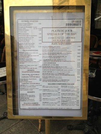 Ronnie S Cafe Menu