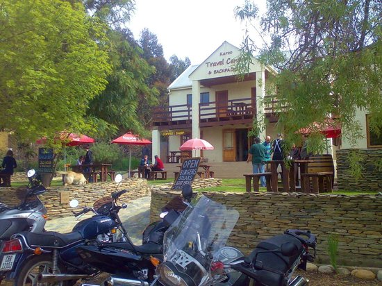 Barrydale Backpackers & Dung Beetle Bar: View from the Route 62