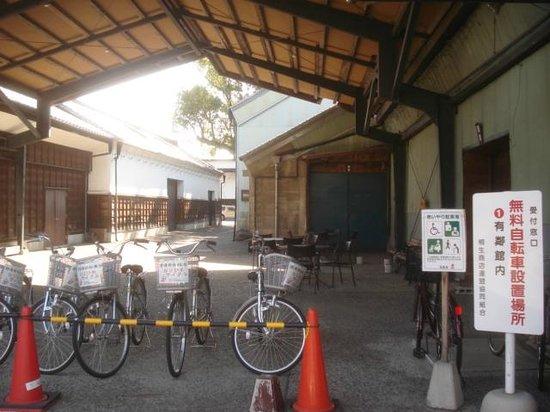 Kiryu Tenmangu Shrine: free bycycle