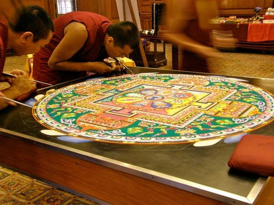 Lhasa Holiday Tours-Lhasa Holiday Private Day Tours: Tibetan Monks Create a Mandala