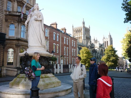 Walking Bristol: Our guide Kat about to start the tour one beautiful Saturday
