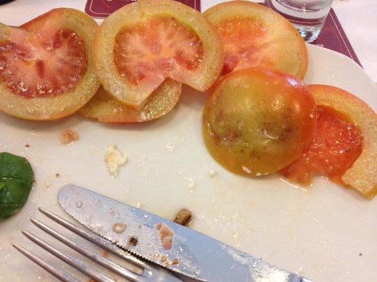 Birreria Moretti: The practically inedible tomato from my Caprese Salad