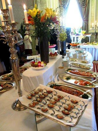 Verandan: buffet area