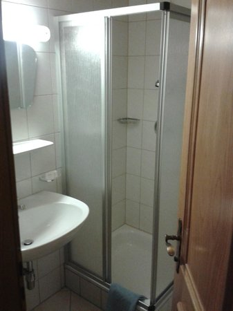 Hotel Garni Lasalt: Duschbad