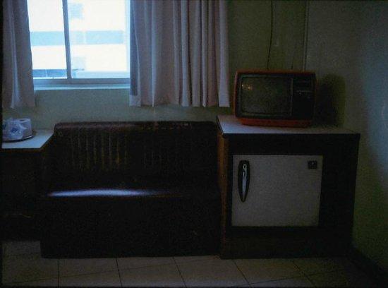 Hotel Lotte: vintage sofa & tv