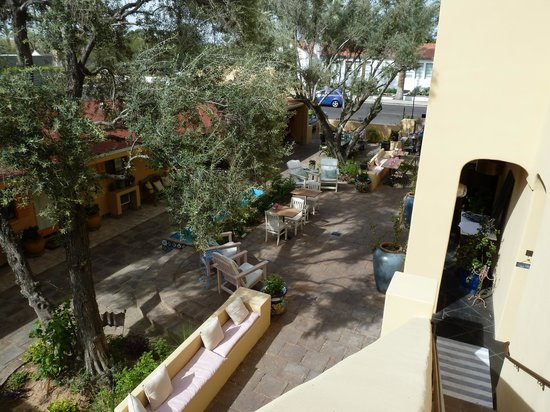 Bespoke Inn: courtyard view from upstairs