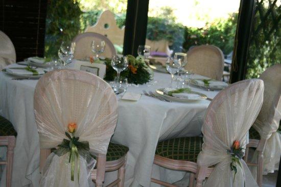 Villa Euchelia: Tavolo in veranda
