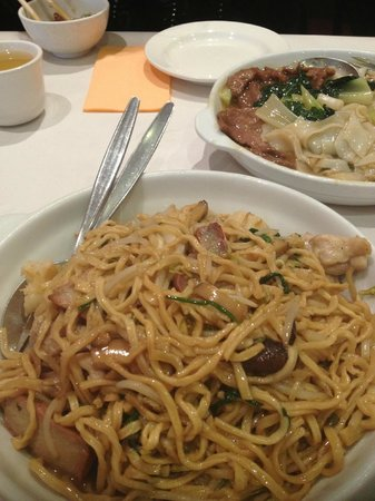 fried noodles for lunch - too oily  give this a miss