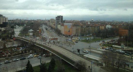 Hilton Sofia : La vista desde la habitación en 7mo piso