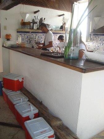 Posada La Cigala: Preparação para saída de barco.