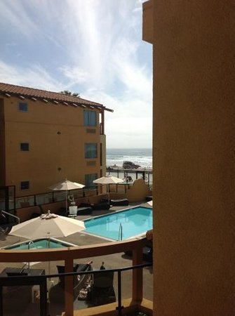 Ocean Park Inn: the view we requested pool and partial