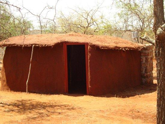 Muteleu Maasai Traditional Village: The exterior of our private manyattas.