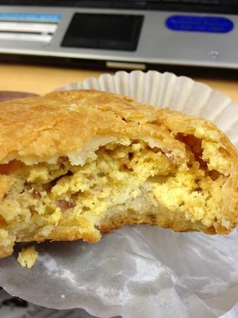 Poupart Bakery: Stuffed Bacon Biscuit Cutaway