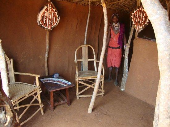 Muteleu Maasai Traditional Village: The reception lobby.