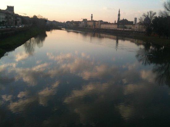 Orti di Cimabue: Arno, ganz in der Nähe der Via Cimabue