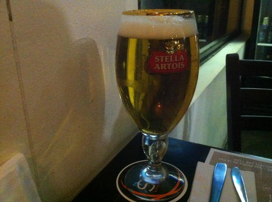 Latitud Sur: 50cl Stella Artois from tap