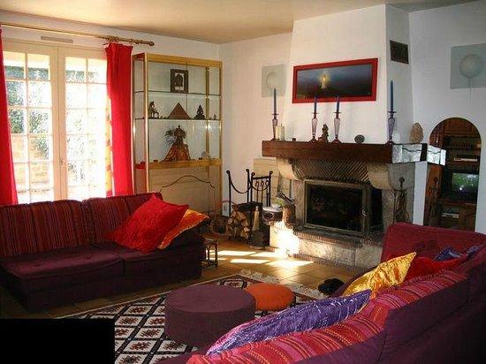 Villa Trouz Ar Mor : cheminée living