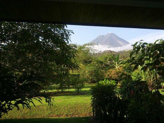 Volcano Lodge & Springs : vista del volcán desde la habitación