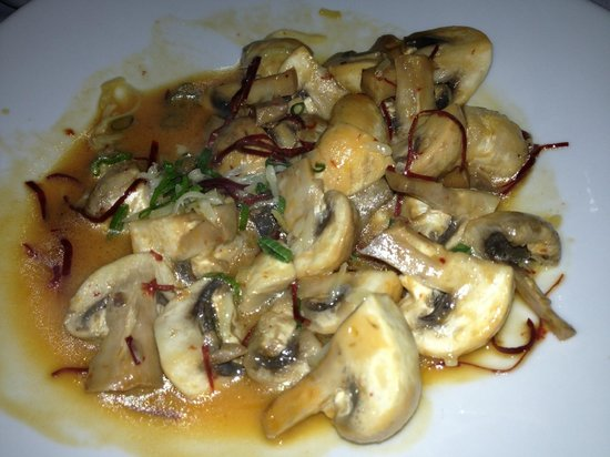 Hotel Coral & Marina: Delicious Sauteed Mushrooms at the restaurant