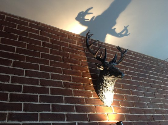 The Ranch Steakhouse & Grill: The Deer head!