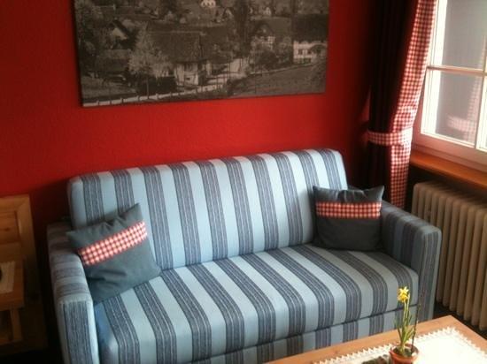 Rebstock Waldulm : Sitzecke im Doppelzimmer