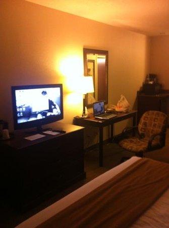 Holiday Inn Express Hotel & Suites Whitecourt: TV/desk area (king room)