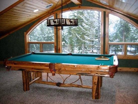 Island Park, ID: Luxury waterfront vacation rental pool table