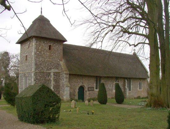 Thornham Coach House: The very pretty St. Mary Church, Thornham Parva