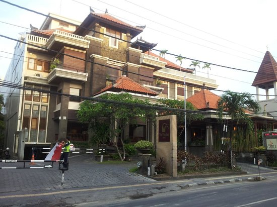 The Vira Bali Hotel: View from the street of the Hotel.