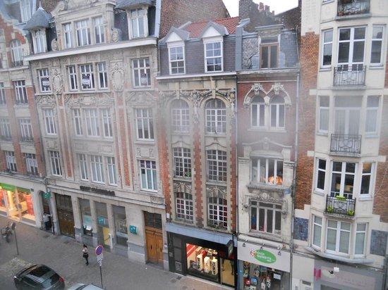 Hotel de la Paix : pigeon netting spoils the view