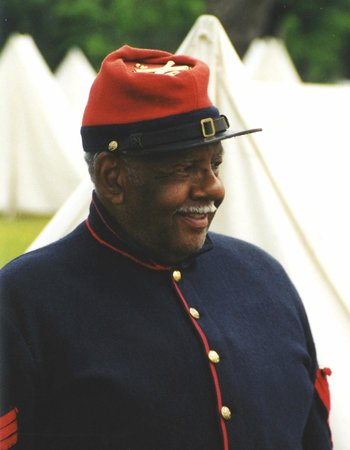 Port O'Plymouth Museum: Black Union officer during annual Living History Weekend