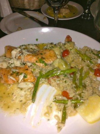 Il Granaio: Fish over Risotta