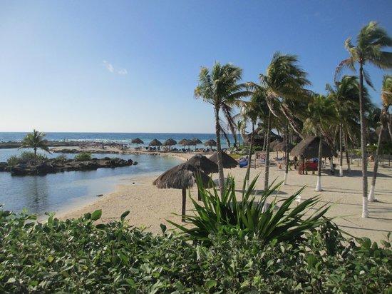Catalonia Yucatan Beach: From lagoon area, Hotel to right