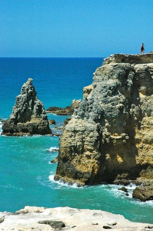 Cabo Rojo, Puerto Rico: View from the cliffs above the beach