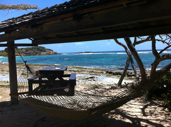 Palm Island Resort & Spa: View from hammock near southern tip of island