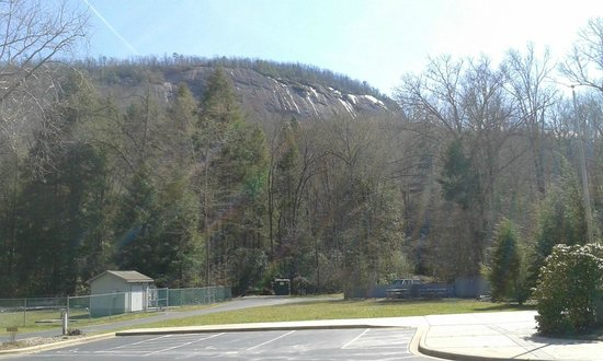 Pisgah Forest, NC: The front side of Looking Glass Mountain.