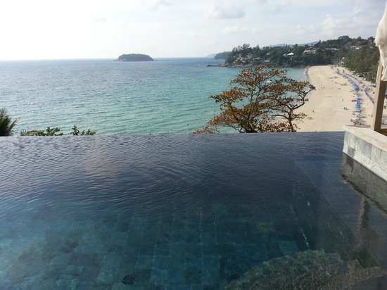 The Shore at Katathani: Infinity Pool in our Room overlooking Kata Noi Beach
