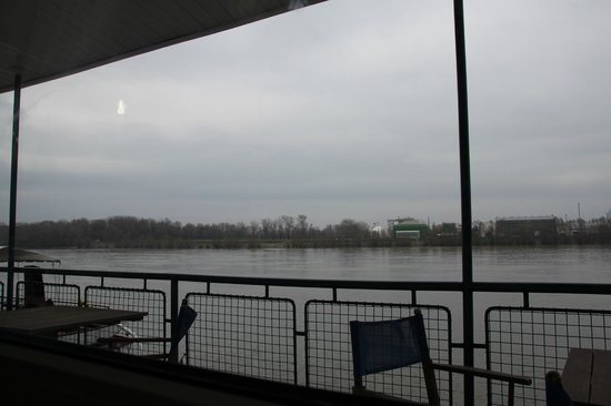 Aquamarina Hotel: view from our window to the Danube