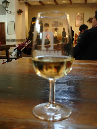 The House of Sandeman Jerez: Sherry Fino with the Flamenco show behind