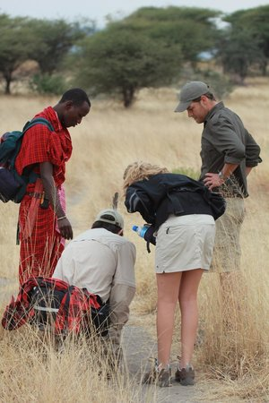 Manyara Ranch Conservancy: Camp manager Ruan and his Maasai spotter took us on a great walk.