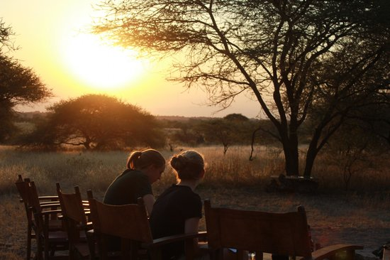 Manyara Ranch Conservancy: Sundowners around the fire. Beautiful spot.