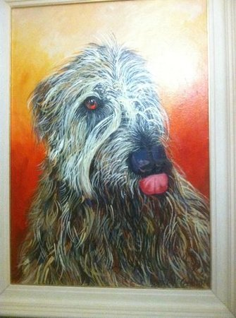 Ballyseede Castle: portrait of the resident wolfhound, Higgins