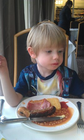 Castle Green Hotel in Kendal, BW Premier Collection: Ethan enjoying breakfast