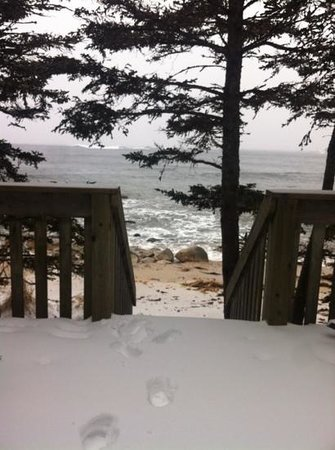 Oceanstone Resort: view from Grey Owl - feb 2013