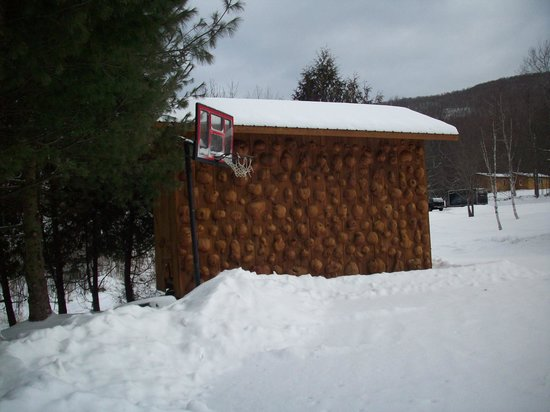 Josselyn's Getaway Log Cabins: A shed.